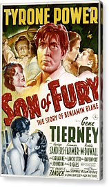 Son Of Fury, Tyrone Power, Gene Acrylic Print by Everett