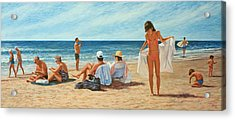 Song For Gauguin Acrylic Print by Laurie Stewart