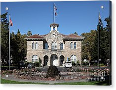 Sonoma City Hall - Downtown Sonoma California - 5d19260 Acrylic Print by Wingsdomain Art and Photography