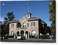 Sonoma City Hall - Downtown Sonoma California - 5d19266 Acrylic Print by Wingsdomain Art and Photography