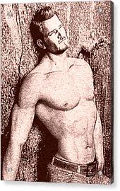 Sorrowful Sketch Acrylic Print by Maynard Ellis