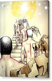 Souls Who Populate The Path Of Light Acrylic Print by Paulo Zerbato
