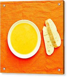 Soup Acrylic Print by Tom Gowanlock