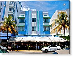 South Beach The Blue Section Acrylic Print by Eric Tressler