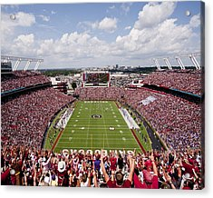 South Carolina View From The Endzone At Williams Brice Stadium Acrylic Print by Replay Photos