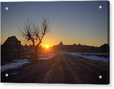 South Dakota Badlands Acrylic Print by Mark Duffy