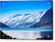 South Island Lake Wanaka New Zealand Acrylic Print by John White