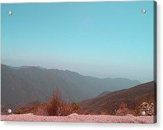 Southern California Mountains 2 Acrylic Print by Naxart Studio
