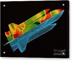 Space Shuttle Aerodynamics Acrylic Print by Nasa