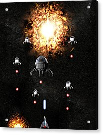 Space War Acrylic Print by Christian Darkin