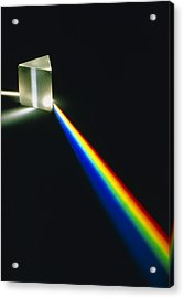 Spectral Light From Prism Acrylic Print by David Parker