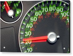 Speedometer Acrylic Print by Johnny Greig