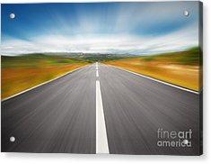 Speedyway Acrylic Print by Carlos Caetano