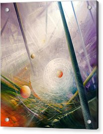 Sphere New Lights Acrylic Print by Drazen Pavlovic