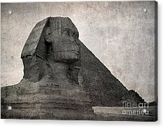 Sphinx Vintage Photo Acrylic Print by Jane Rix