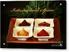 Spices From Around The World Acrylic Print by Inspired Nature Photography Fine Art Photography