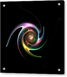 Spinning Galaxy Acrylic Print by Stefan Kuhn