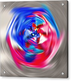 Spinning Pinwheel - Americana Acrylic Print by Steve Ohlsen