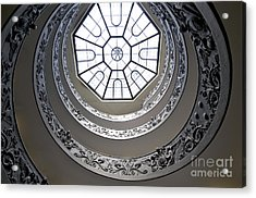 Spiral Staircase In The Vatican Museums Acrylic Print by Bernard Jaubert