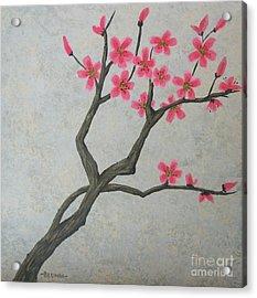 Spring Blossoms Acrylic Print by Billinda Brandli DeVillez