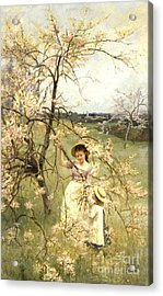 Spring Acrylic Print by Henry George Todd