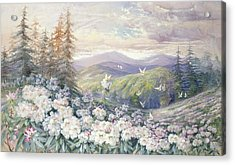 Spring Landscape Acrylic Print by Marian Ellis Rowan