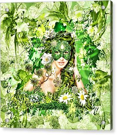 Spring Acrylic Print by Mo T