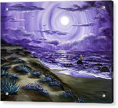 Spying A Mermaid From Flowering Sand Dunes Acrylic Print by Laura Iverson