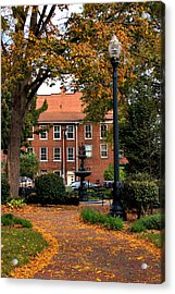 Square In Lisbon Ohio Acrylic Print by Michelle Joseph-Long