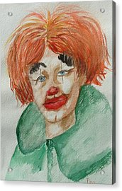 Ssend In The Clown Acrylic Print by Betty Pimm