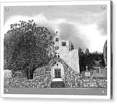 St Franncis De Paula Mission Acrylic Print by Jack Pumphrey