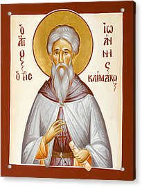 St John Climacus Acrylic Print by Julia Bridget Hayes