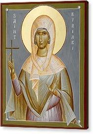 St Kyriaki Acrylic Print by Julia Bridget Hayes