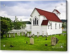 St. Luke's Church In Placentia Newfoundland Acrylic Print by Elena Elisseeva