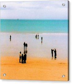 St Malo Beach Acrylic Print by Nigel Chaloner
