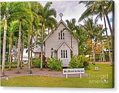 St Mary's By The Sea Acrylic Print by Bob and Nancy Kendrick