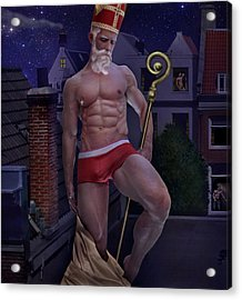 St Nicholas Acrylic Print by John Clum