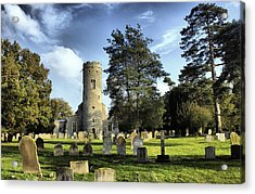 St Peters Church Forncett Norfolk England Acrylic Print by Darren Burroughs