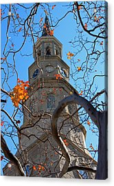 St. Philips Church Steeple - Charleston Sc Acrylic Print by Suzanne Gaff