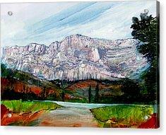 St Victoire Landscape Acrylic Print by David Bates