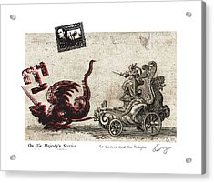 St Vincent And The Dragon Acrylic Print by Chrystle Wolff