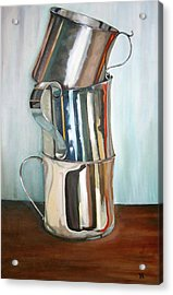 Stacking Them Up Acrylic Print by Amy Higgins