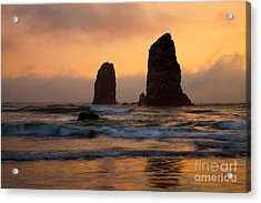 Stacks Of Gold Acrylic Print by Mike  Dawson