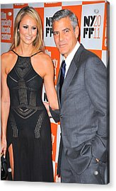 Stacy Keibler, George Clooney Acrylic Print by Everett