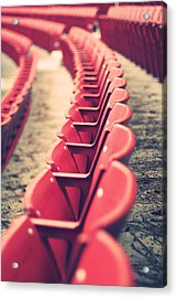 Stadium Seating Acrylic Print by Vinnie Finn
