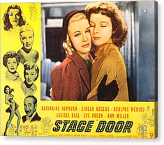 Stage Door, Ginger Rogers, Katharine Acrylic Print by Everett