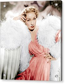 Stage Fright, Marlene Dietrich Wearing Acrylic Print by Everett