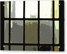 Stained Glass Doors 2 Acrylic Print by Peter  McIntosh