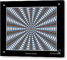 Stained Glass Kaleidoscope 32 Acrylic Print by Rose Santuci-Sofranko