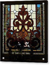 Stained Glass Lc 16 Acrylic Print by Thomas Woolworth